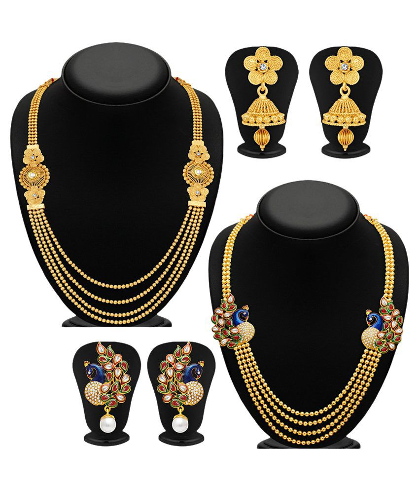Sukkhi Multicolour Necklace Set - Set of 2