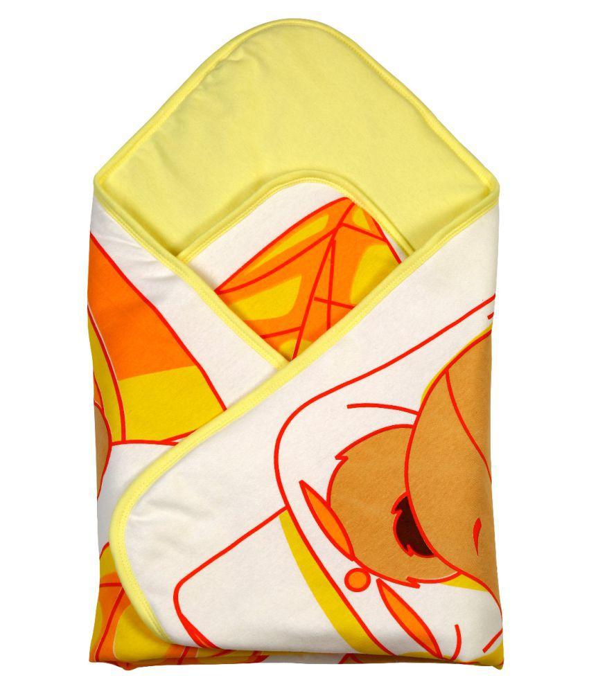 Brim Hugs & Cuddles Multicolour Baby Wrapper Baby Blanket/Baby Swaddle/Baby Sleeping Bag