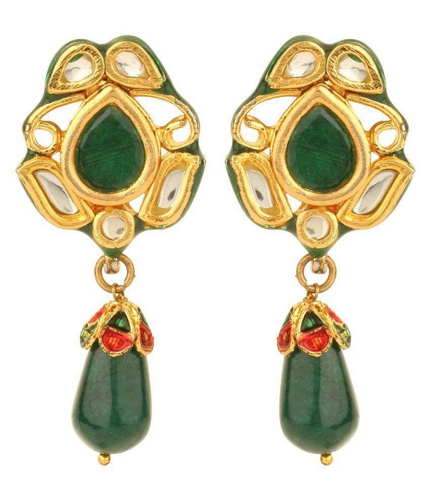 Dilan Jewels Green Hanging Earrings