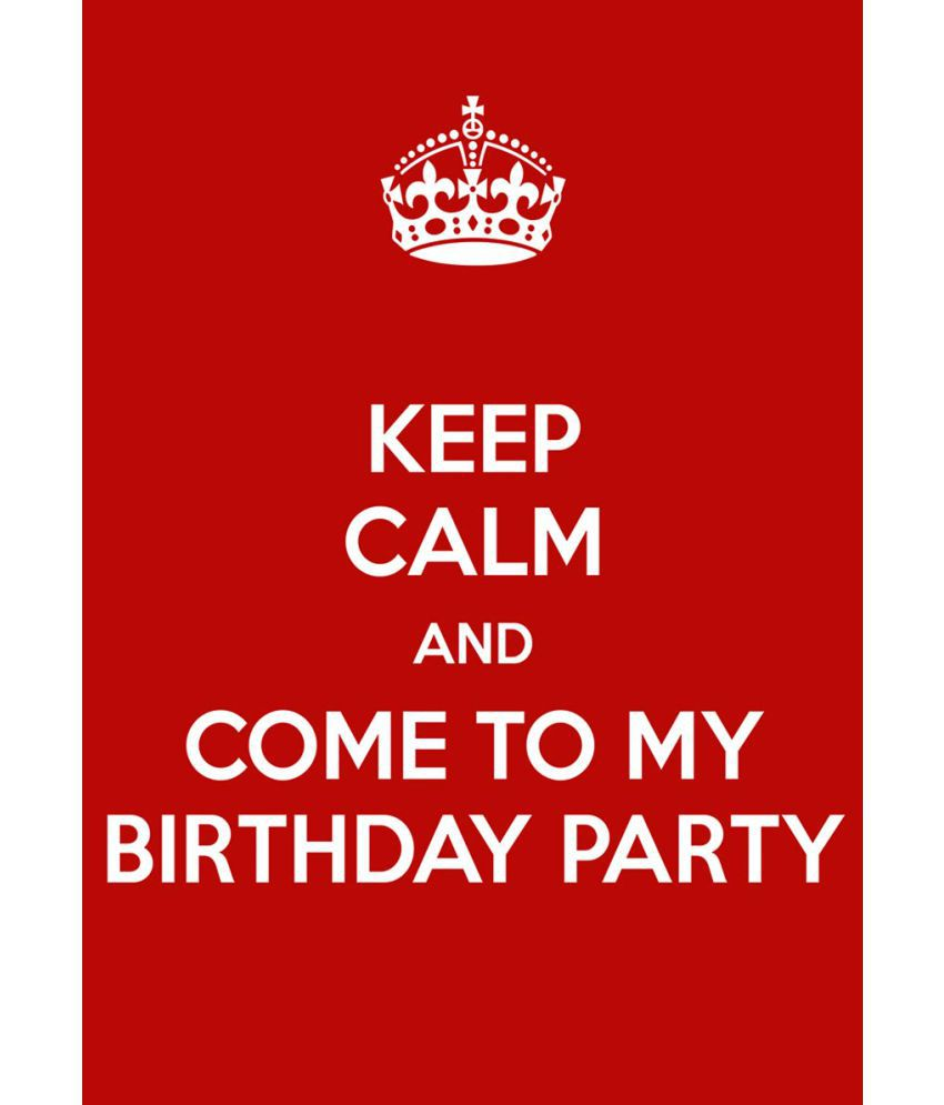 Ulta Anda Keep Calm Birthday Quote Canvas Art Prints Without ...