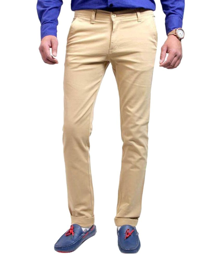 Luv Kush Beige Regular Flat Trouser