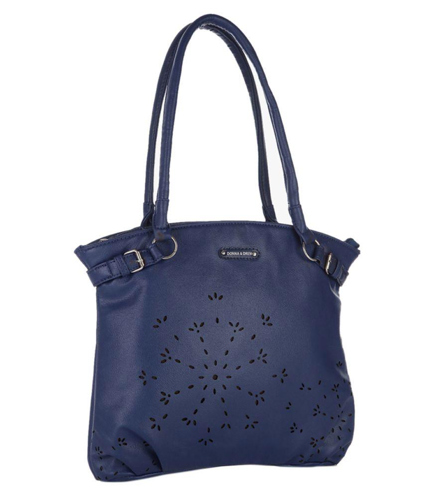 Donna & Drew Blue Faux Leather Shoulder Bag