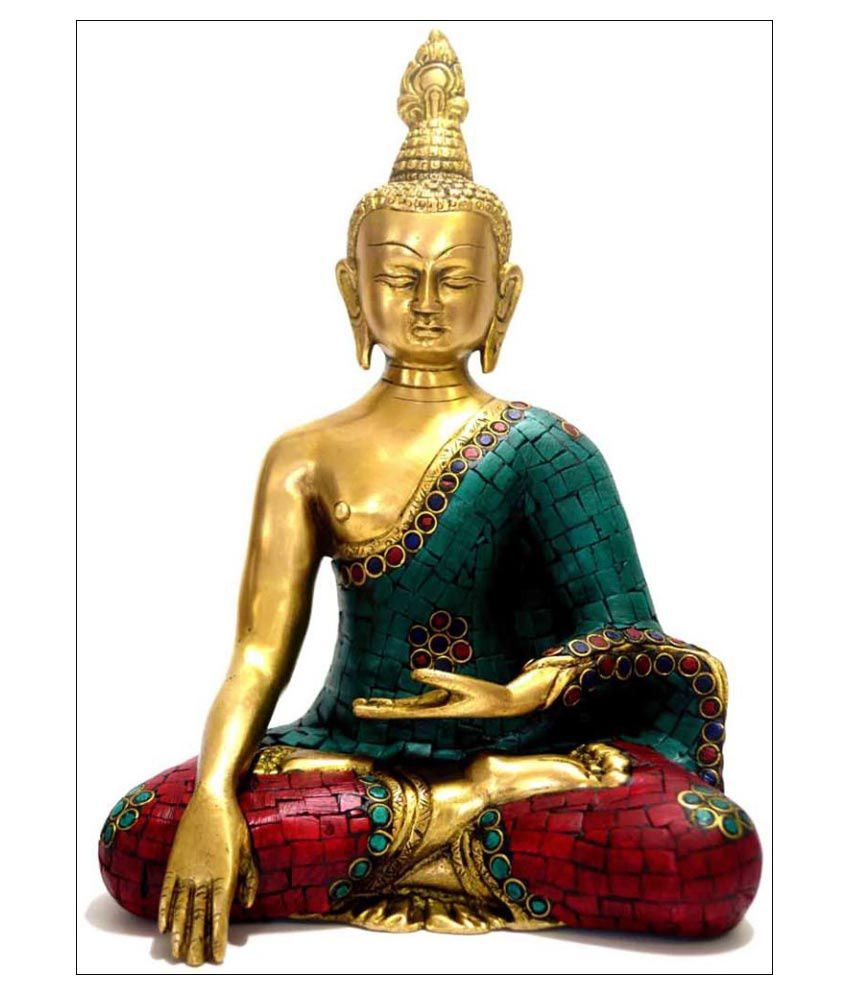 Tallenge Turquoise Buddha Canvas Art Prints Without Frame Single Piece