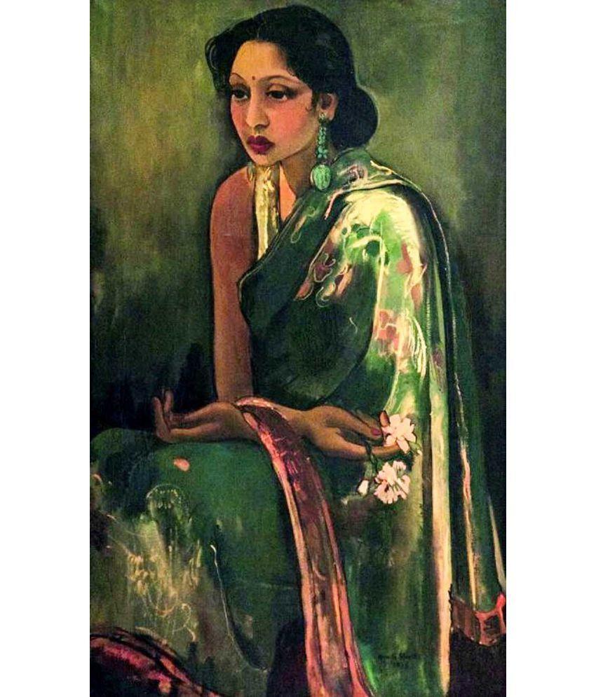 Tallenge Amrita Shergil - Sumair Canvas Art Prints Without Frame Single Piece