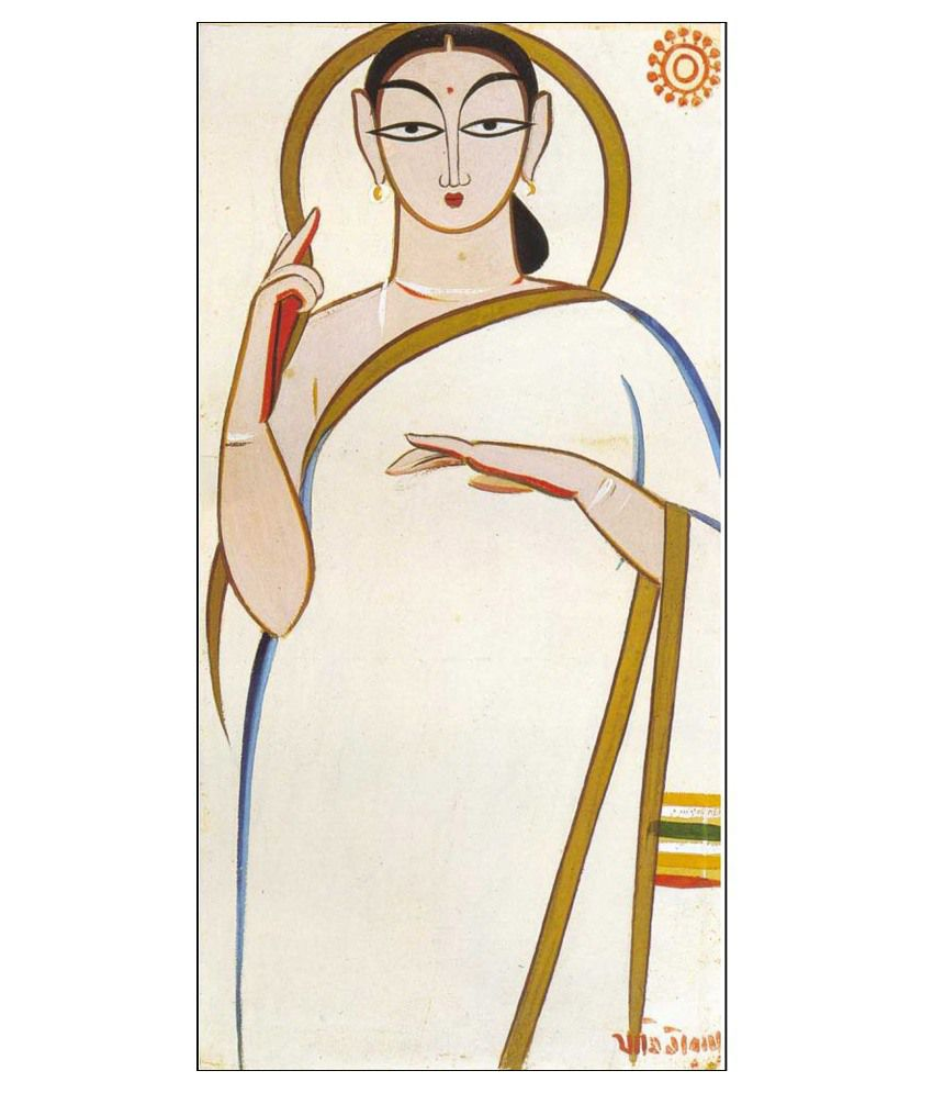 Tallenge Jamini Roy Canvas Art Prints Without Frame Single Piece
