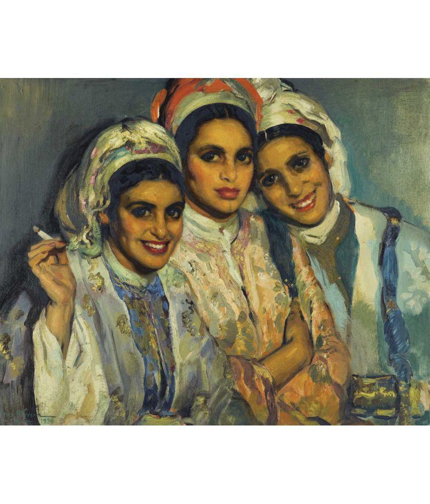 Tallenge Jose Cruz Herrera - Moroccan Beauties Canvas Art Prints Without Frame Single Piece