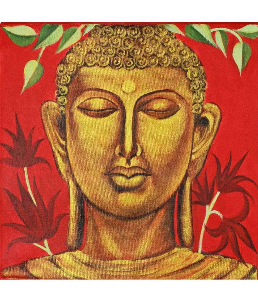 Tallenge Oil Divine Meditating Buddha Canvas Art Prints Without Frame Single Piece