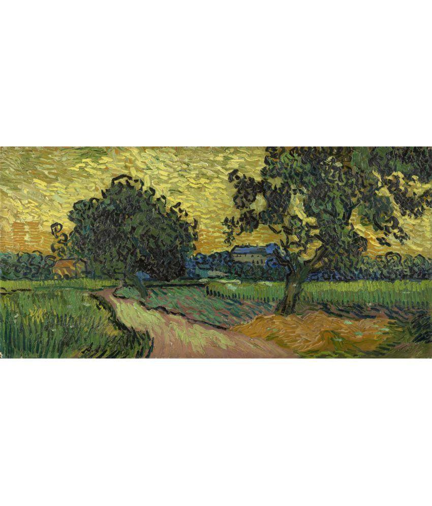 Tallenge Van Gogh - Landscape at Twilight Canvas Art Prints Without Frame Single Piece