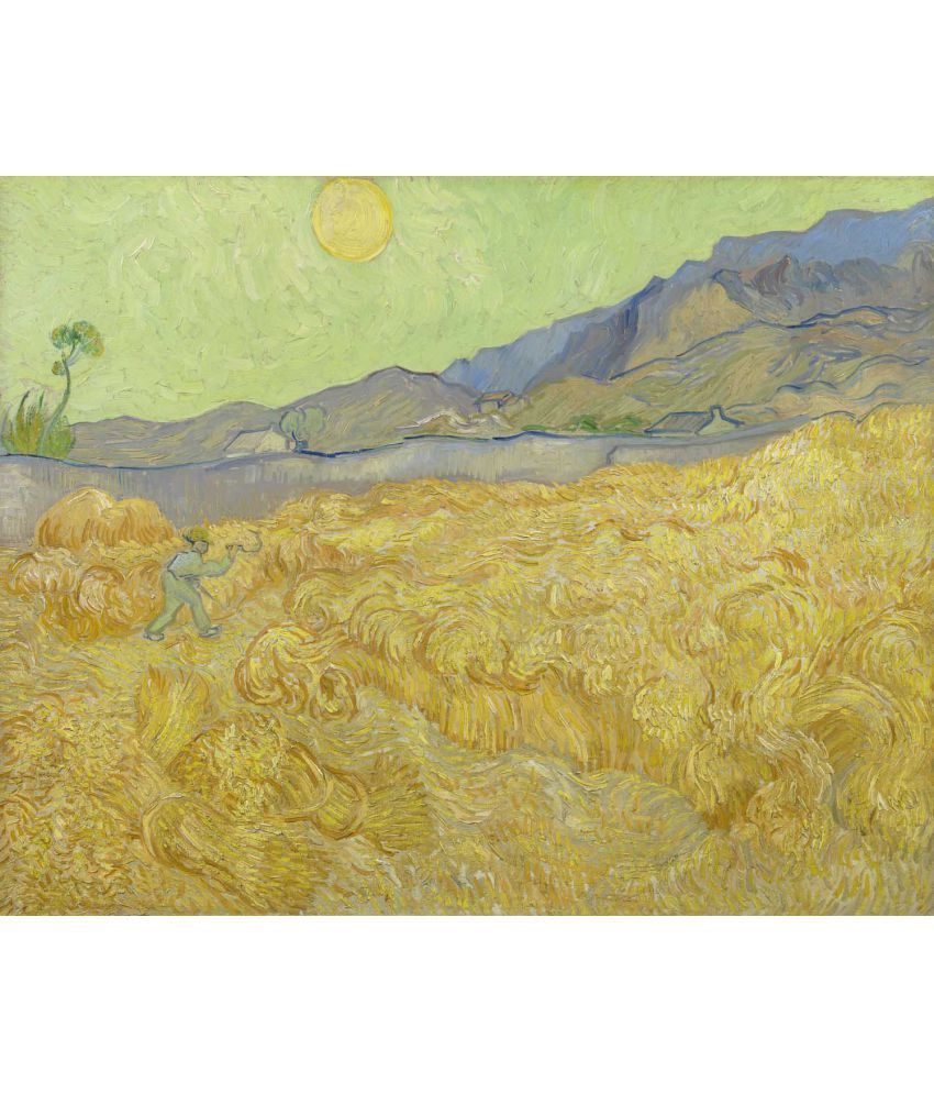 Tallenge Van Gogh - Wheatfield with a Reaper Canvas Art Prints Without Frame Single Piece