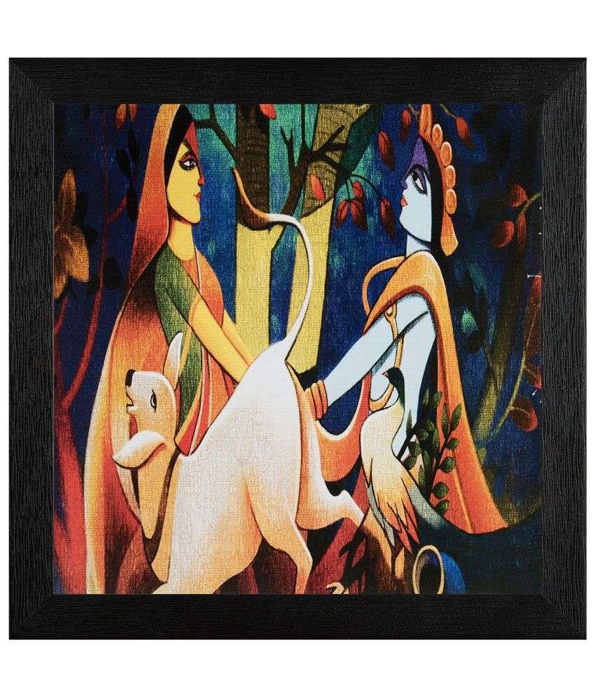 JAF Religious Wood Art Prints With Frame Single Piece