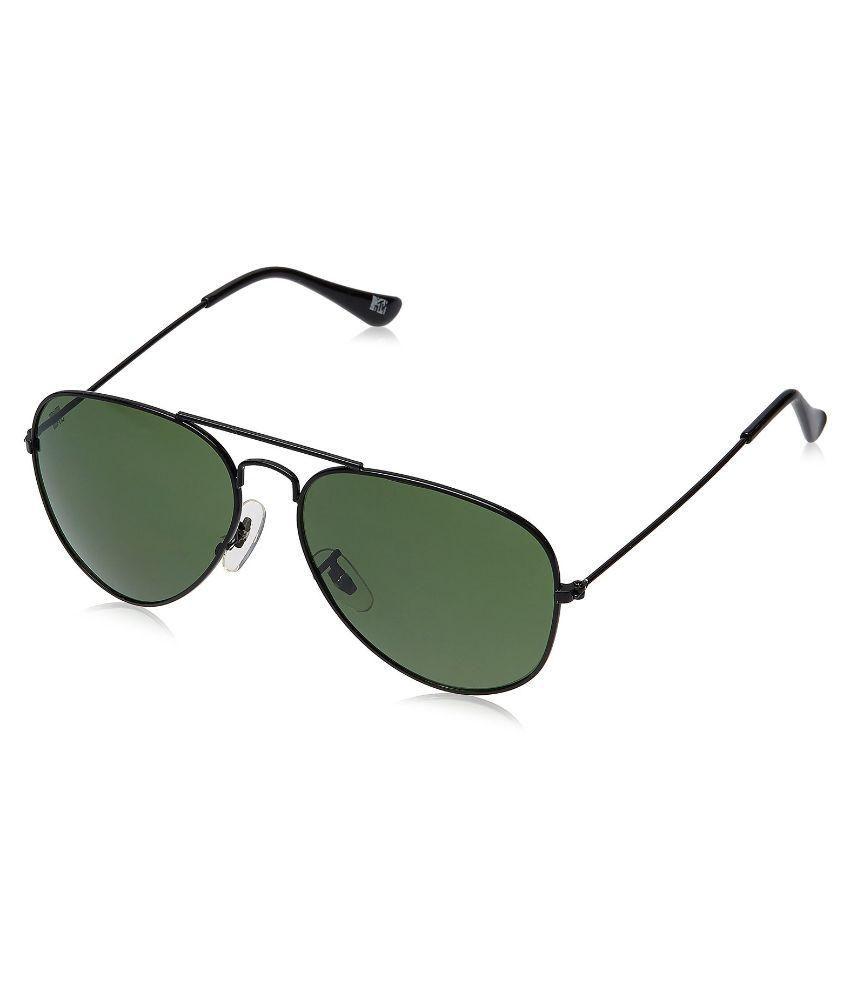 MTV Green Medium Unisex Aviator Sunglasses