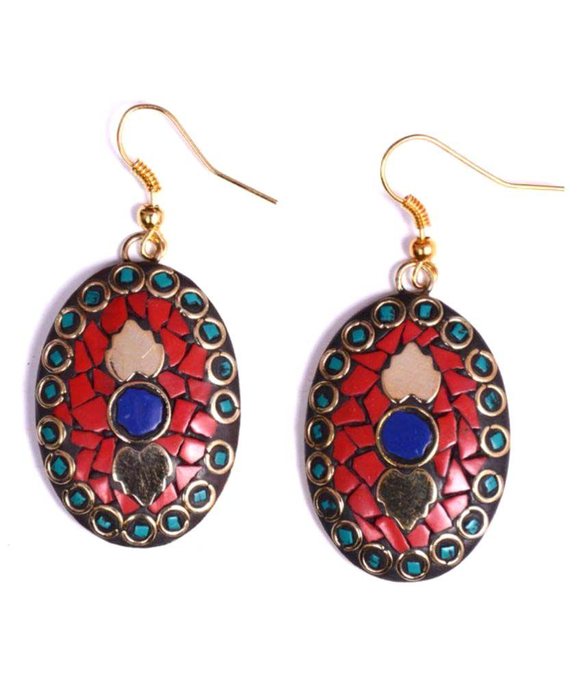 Shree Mangalam Mart Multicolour Hanging Earrings