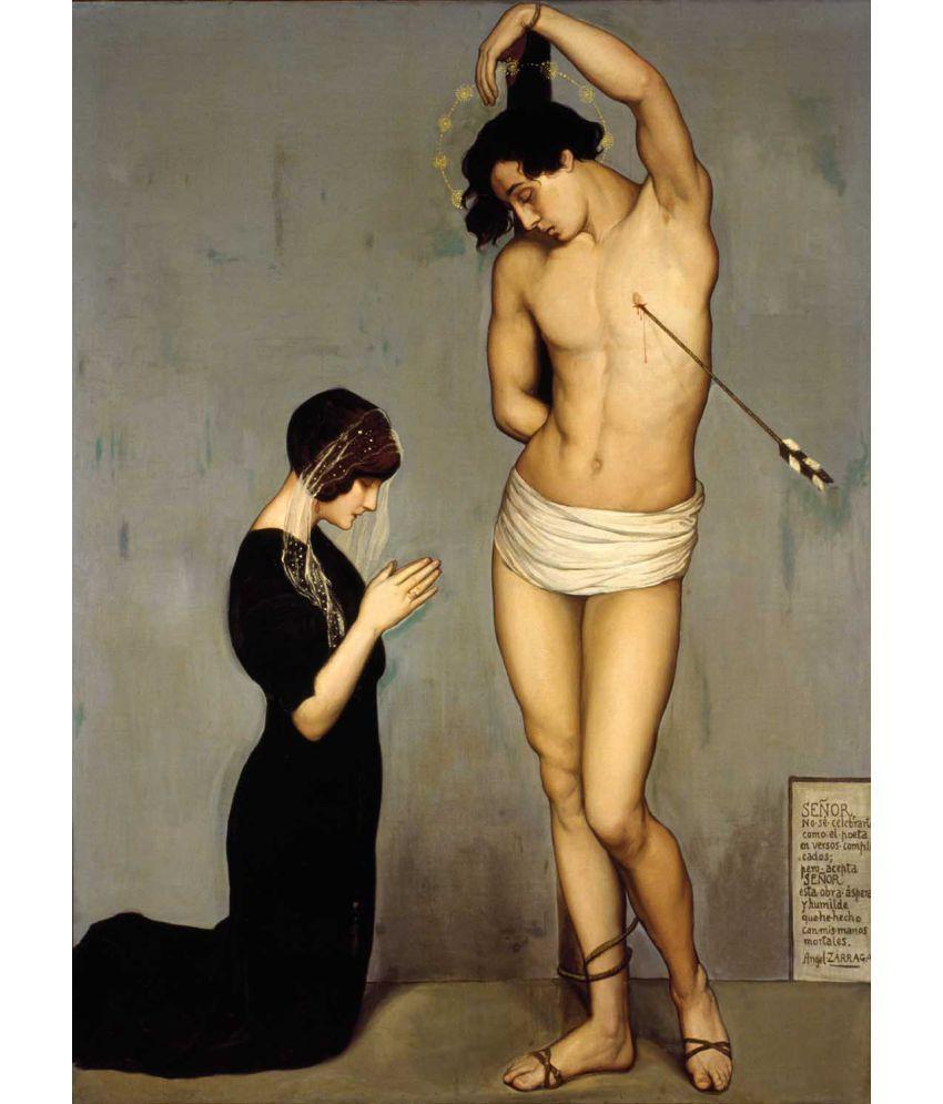 Tallenge Angel Zarraga - Ex-Voto Del Martirio De San Sebastian Canvas Art Prints Without Frame Single Piece