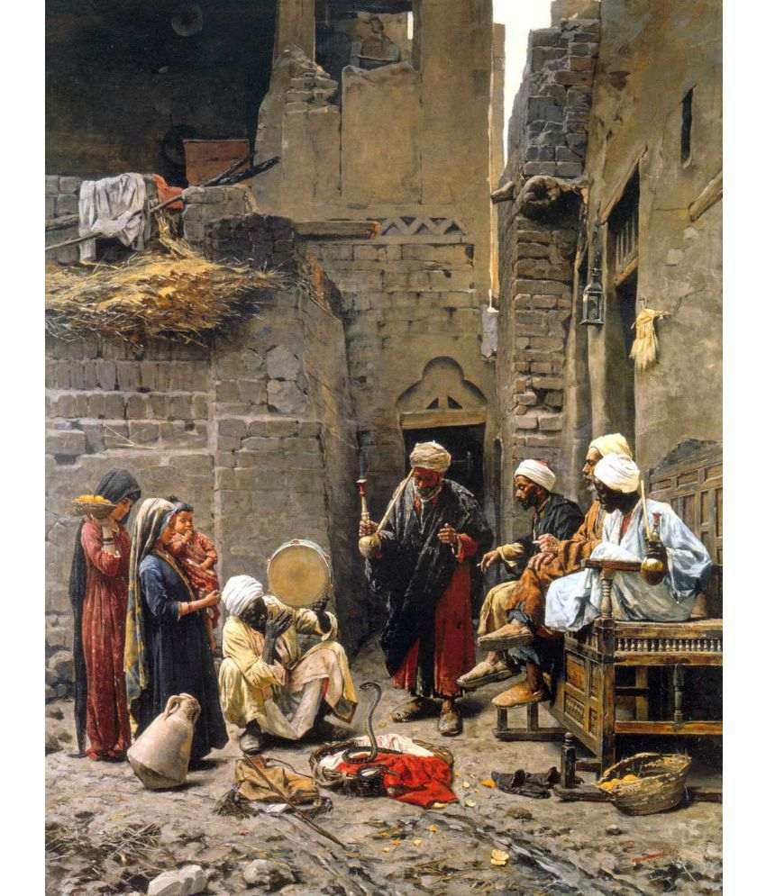 Tallenge Paja Jovanović - The Snake Charmer  Canvas Art Prints Without Frame Single Piece