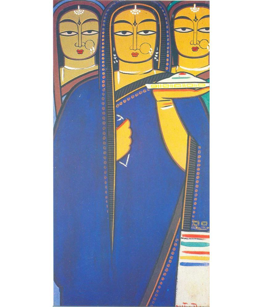 Tallenge Three Pujarins Canvas Art Prints Without Frame Single Piece