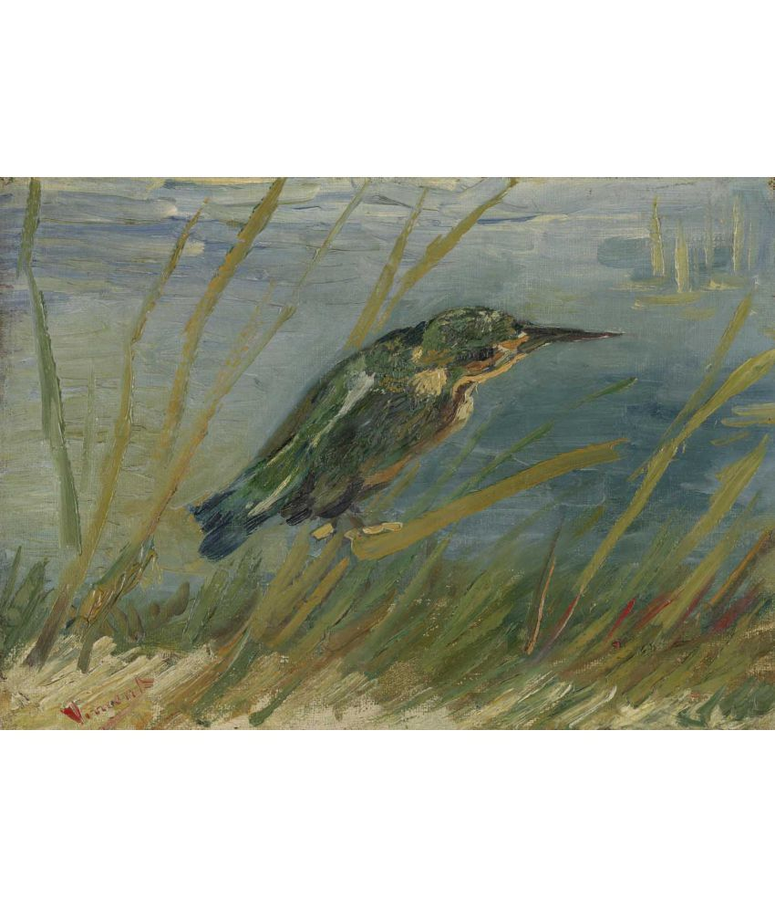 Tallenge Van Gogh - Kingfisher by the Waterside Canvas Art Prints Without Frame Single Piece