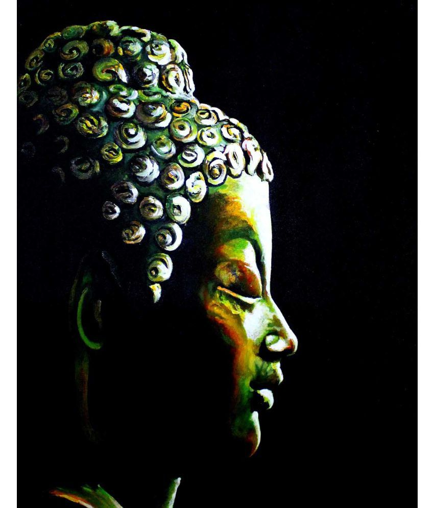 Tallenge  Oil Buddha The Enlightened One  Canvas Art Prints Without Frame Single Piece