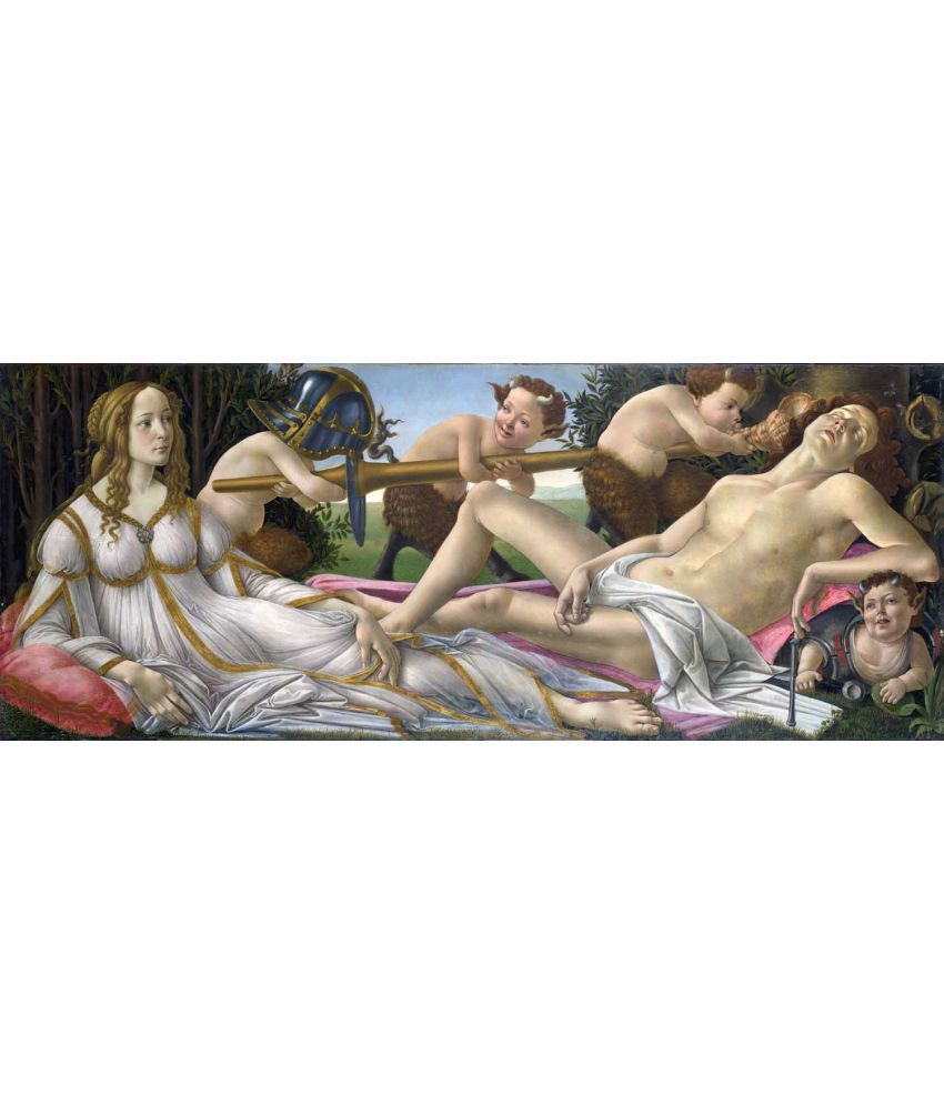 Tallenge Sandro Botticelli - Mars and Venus Canvas Art Prints Without Frame Single Piece