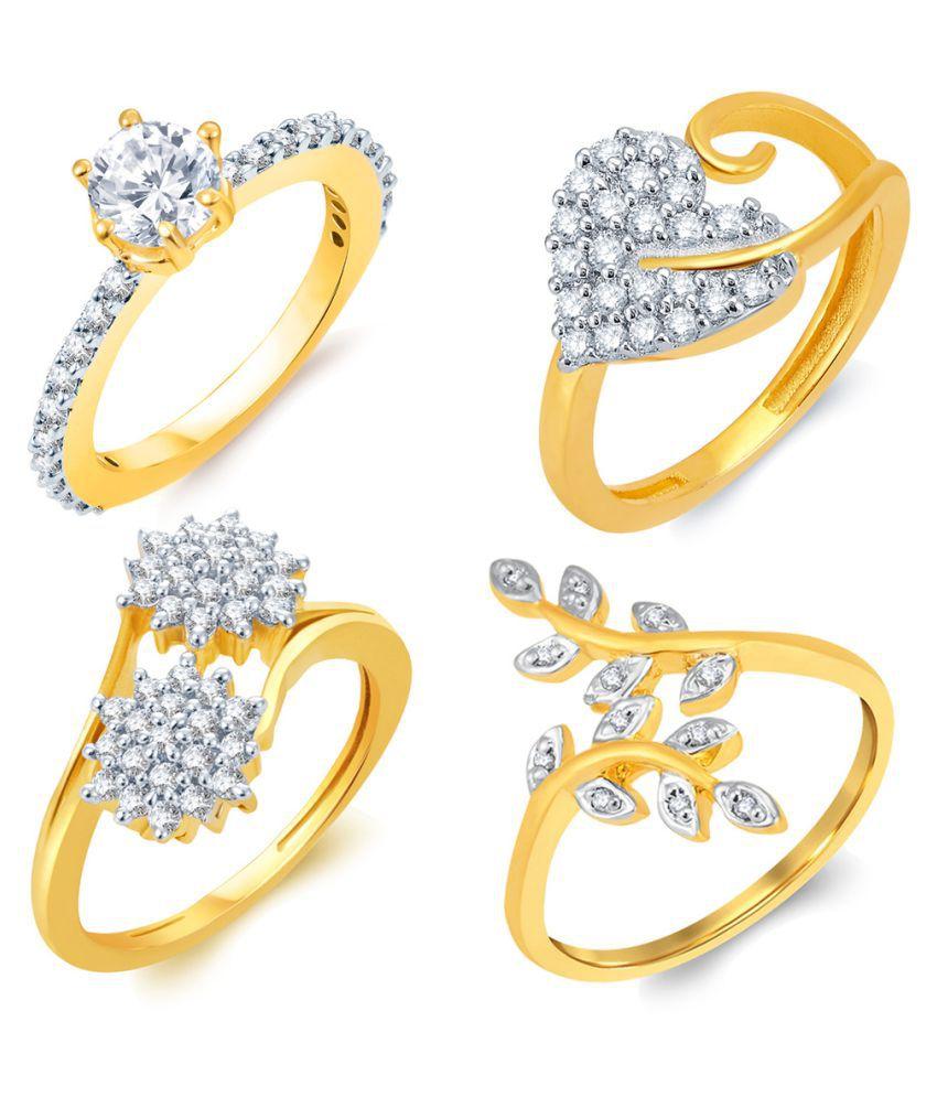 Sukkhi Golden Ring - Set of 4: Buy Sukkhi Golden Ring - Set of 4 ...