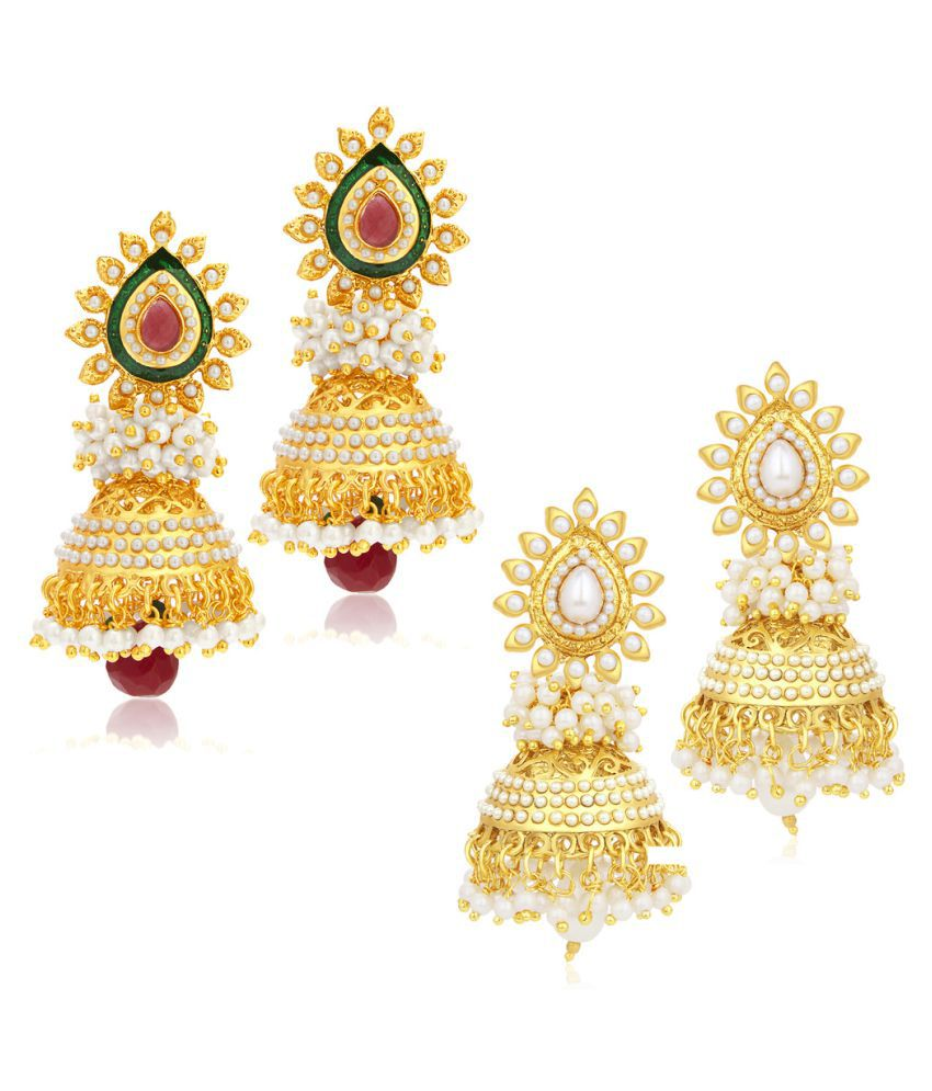 Sukkhi Multicolour Earrings - Pack of 2