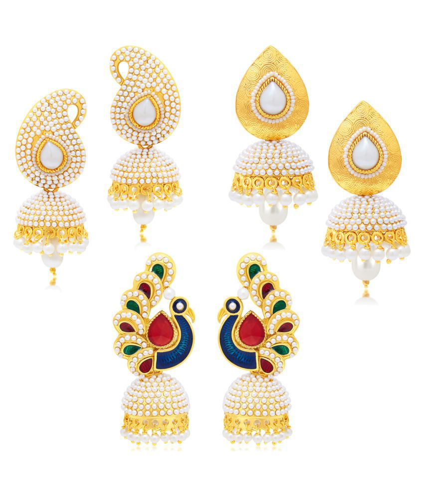 Sukkhi Multicolour Earrings - Pack of 3