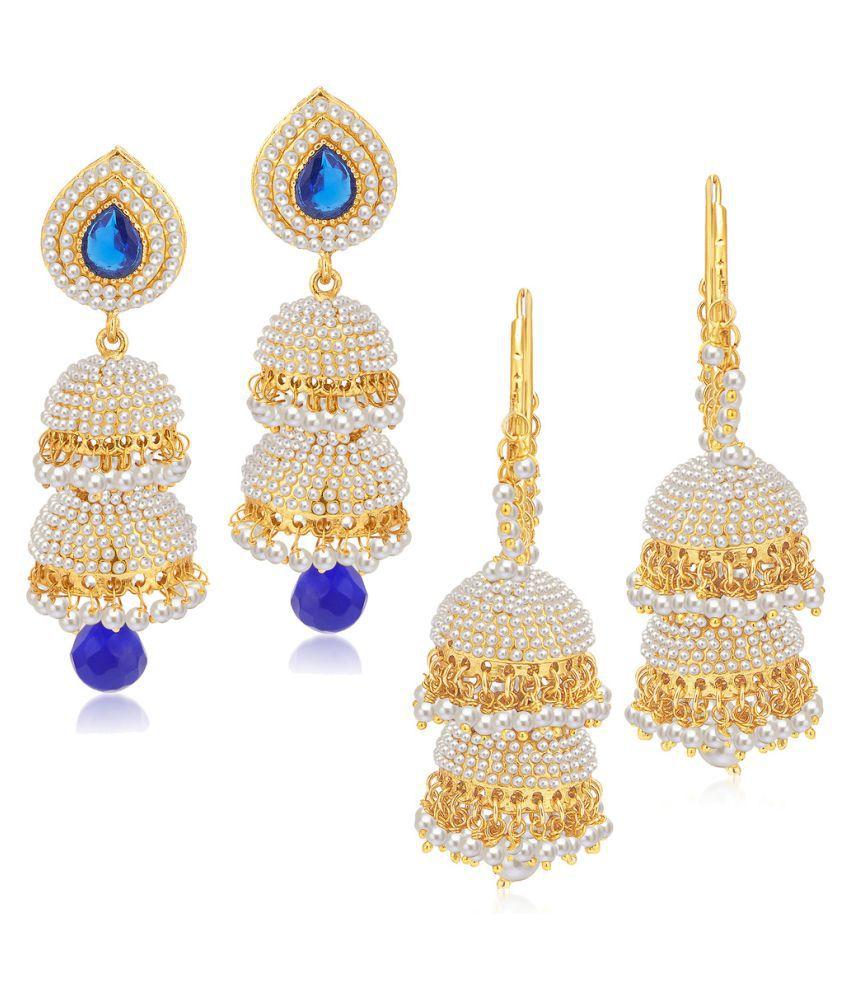Sukkhi Multicolour Earrings - Set of 2