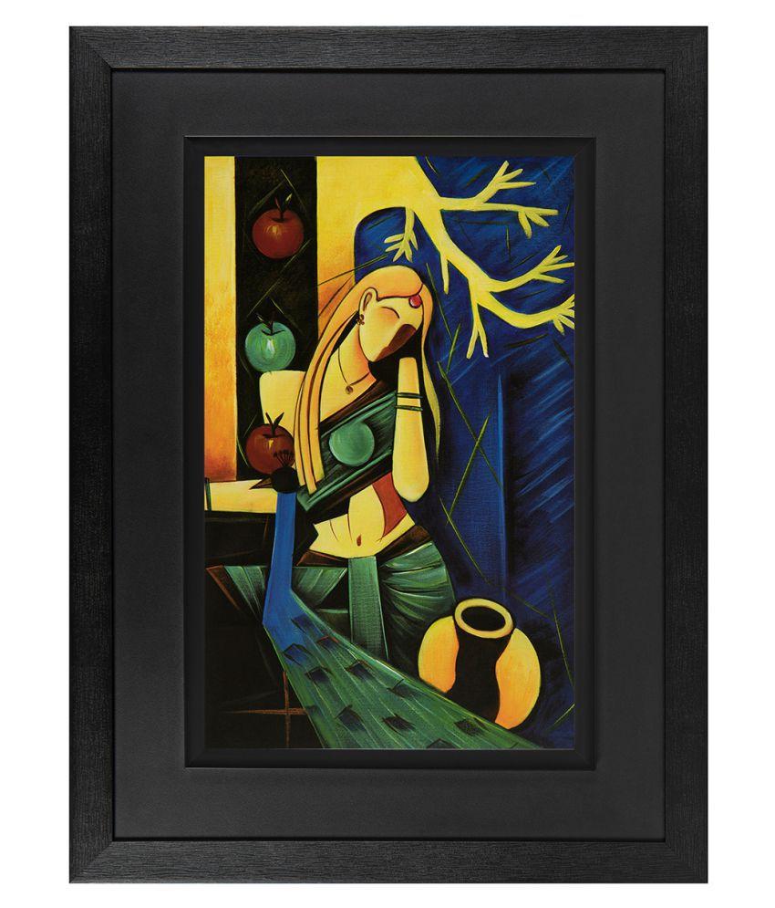 Jaf Modern  Art Prints With Frame Single Piece