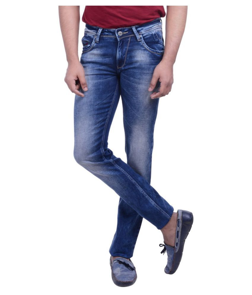 Hoffmen Blue Slim Washed