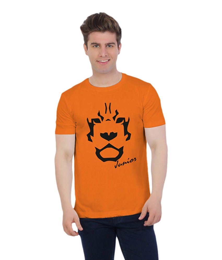 Gujarat Lions Orange Cotton T-Shirt