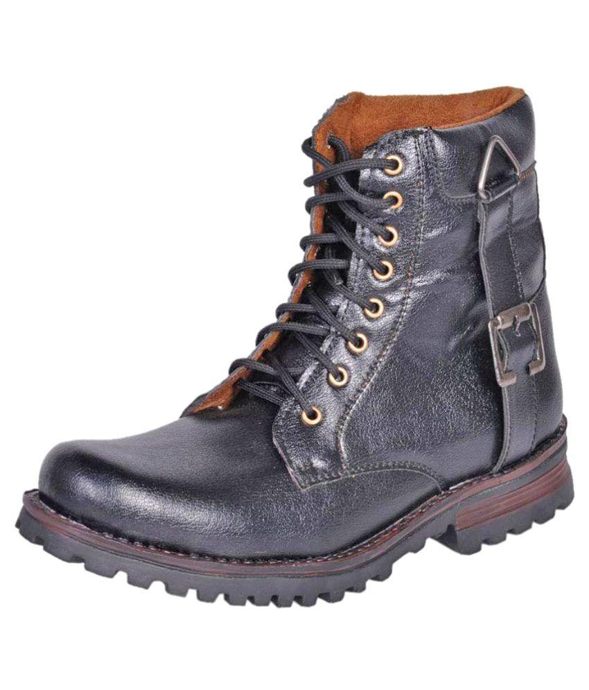 Affican Black Hiking & Trekking Boot