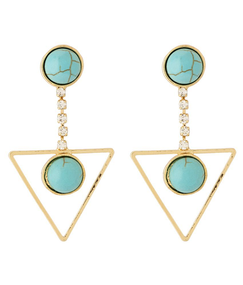 Voylla Golden Earrings