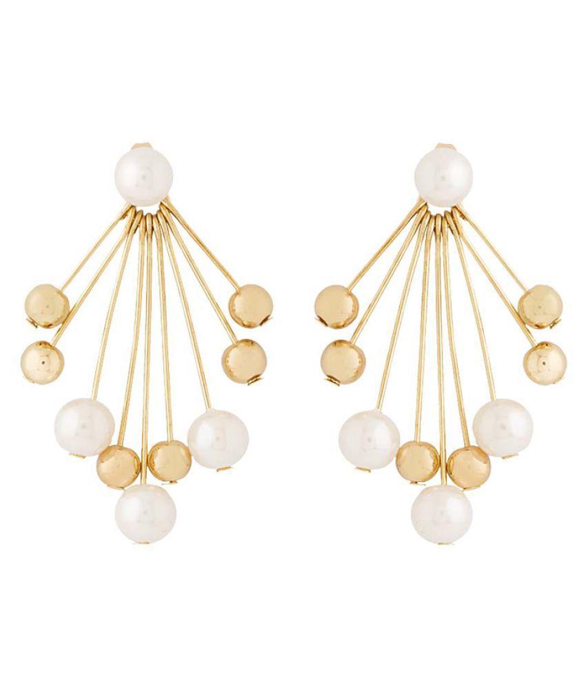 Voylla Golden Hanging Earring