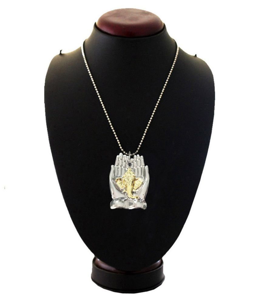 Mens Jewell Silver Pendant
