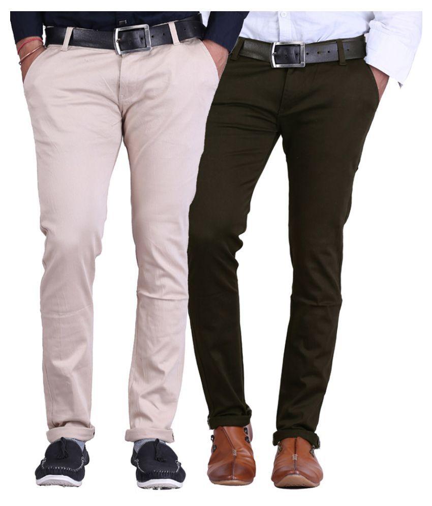 Ansh Fashion Wear Multi Regular Flat Trouser