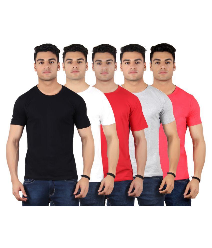 Diaz Multi Round T-Shirt Pack of 5