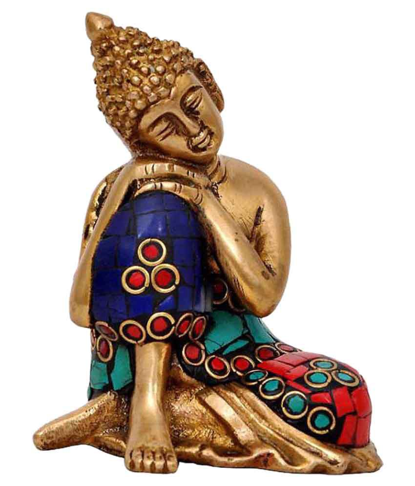 Moradabad Handicrafts Buddha Brass Idol