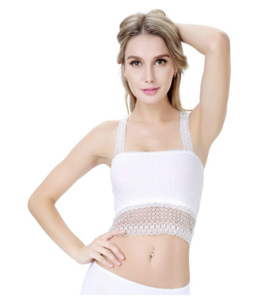 b35d82b67e Buy PrettyCat White Lace Bralette Online at Best Prices in India - Snapdeal