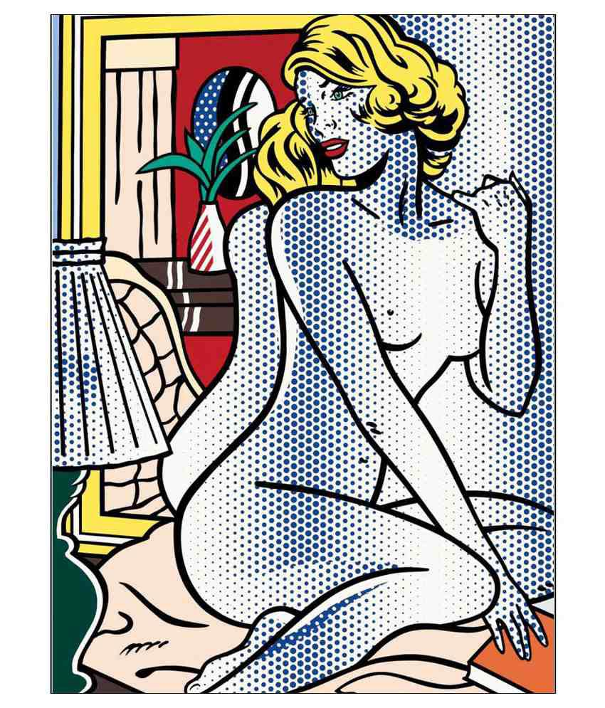 Tallenge  Roy Lichtenstein - Crying Girl  Canvas Art Prints Without Frame Single Piece