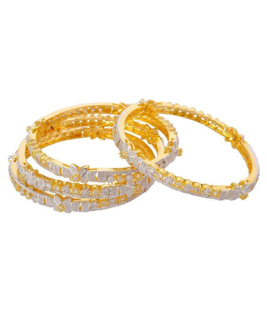 Jwells & More Golden Bangle Set