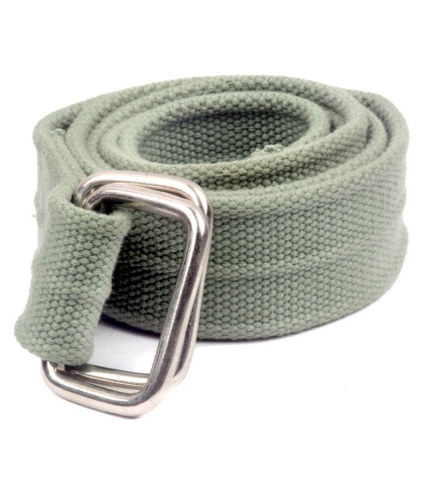 Krishna Green Canvas Casual Belts