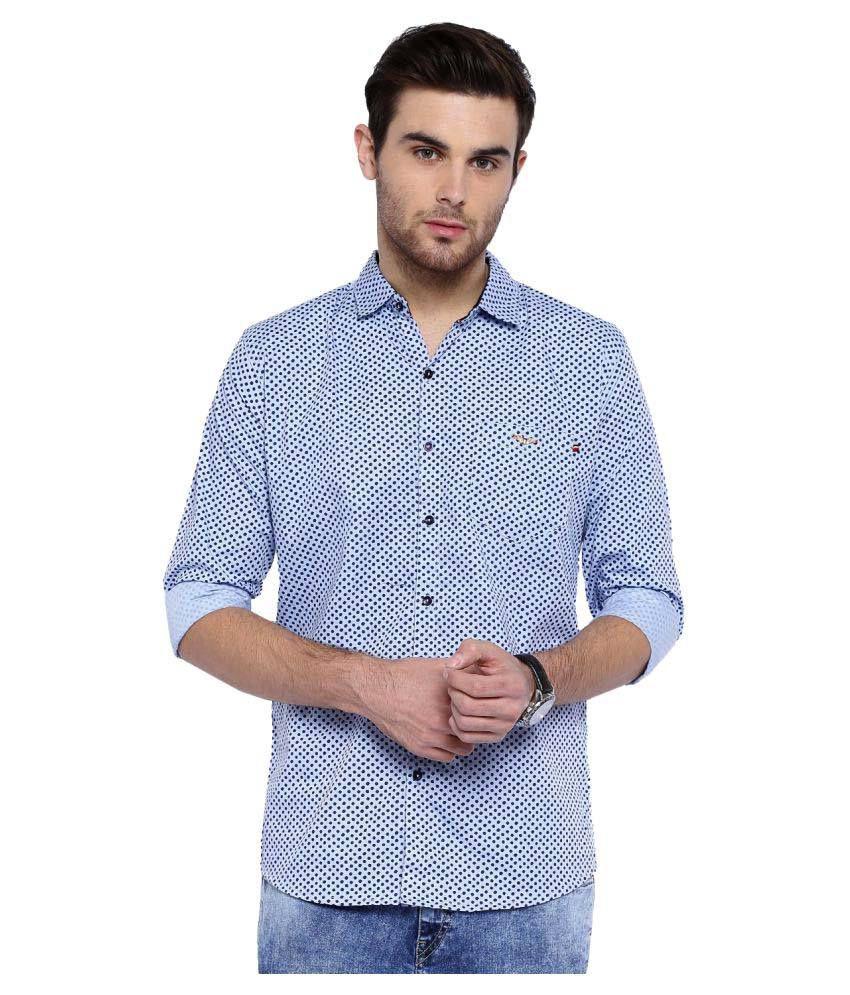 Showoff Blue Casuals Slim Fit Shirt
