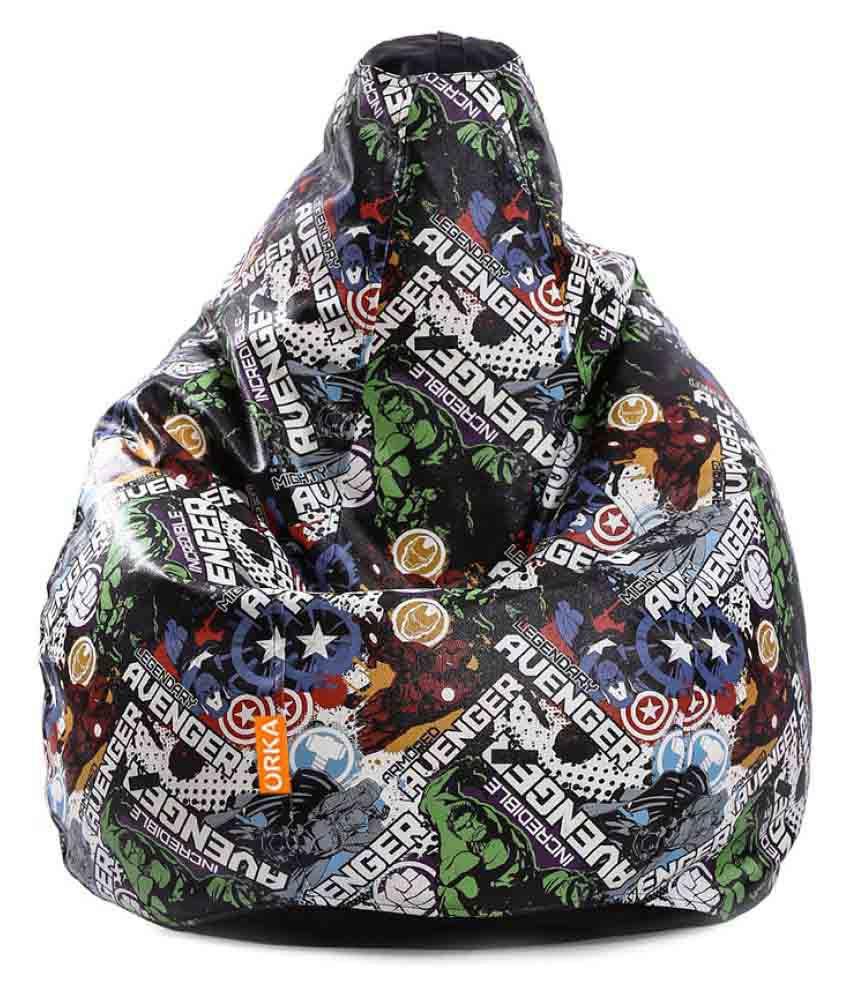 Orka Incredible Avengers Bean Bag Cover - Multi-colour - Buy Orka Incredible Avengers Bean Bag