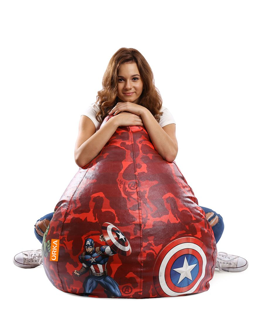 Terrific Orka Marvel Avengers Bean Bag Cover Multi Colour Buy Gmtry Best Dining Table And Chair Ideas Images Gmtryco