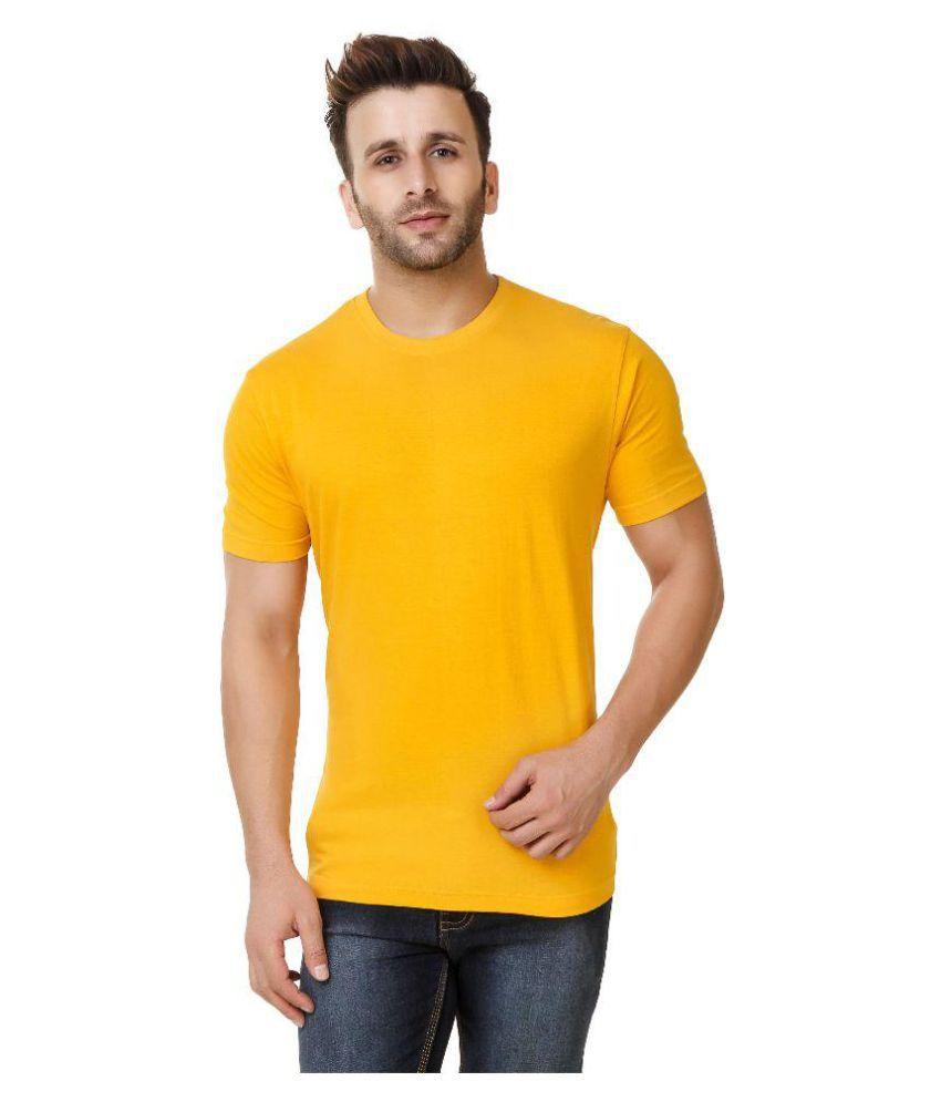 Austin-M Yellow Round T-Shirt Pack of 3