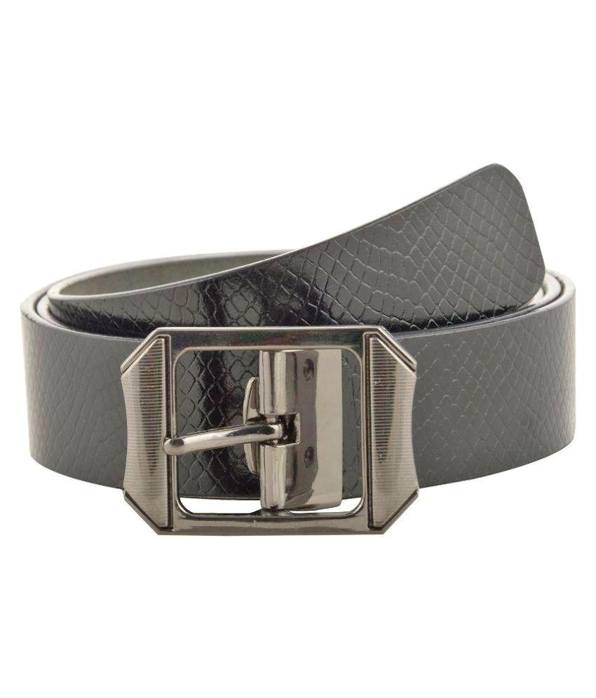 Jackblack Black Leather Formal Belts