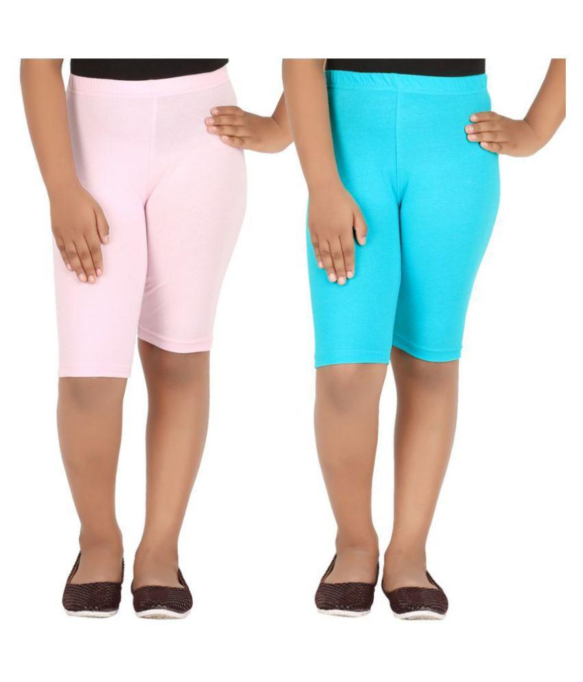 Knit ABC Multicolor Cotton Cycling Shorts - Pack of 2