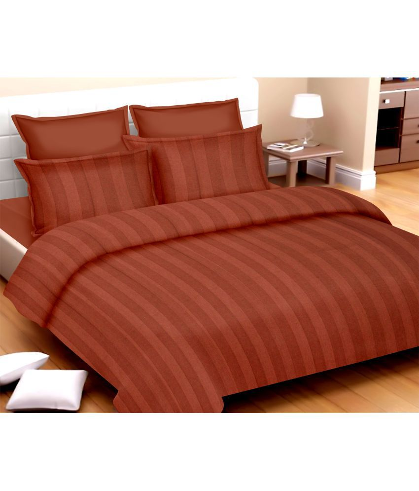 Cannon Double Cotton Stripes Bed Sheet