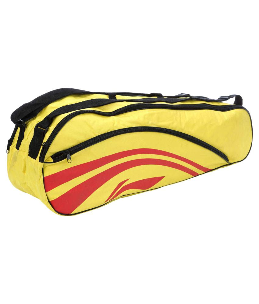 Li-Ning Yellow Duffle bag with shoulder strap Badminton Kit Bag