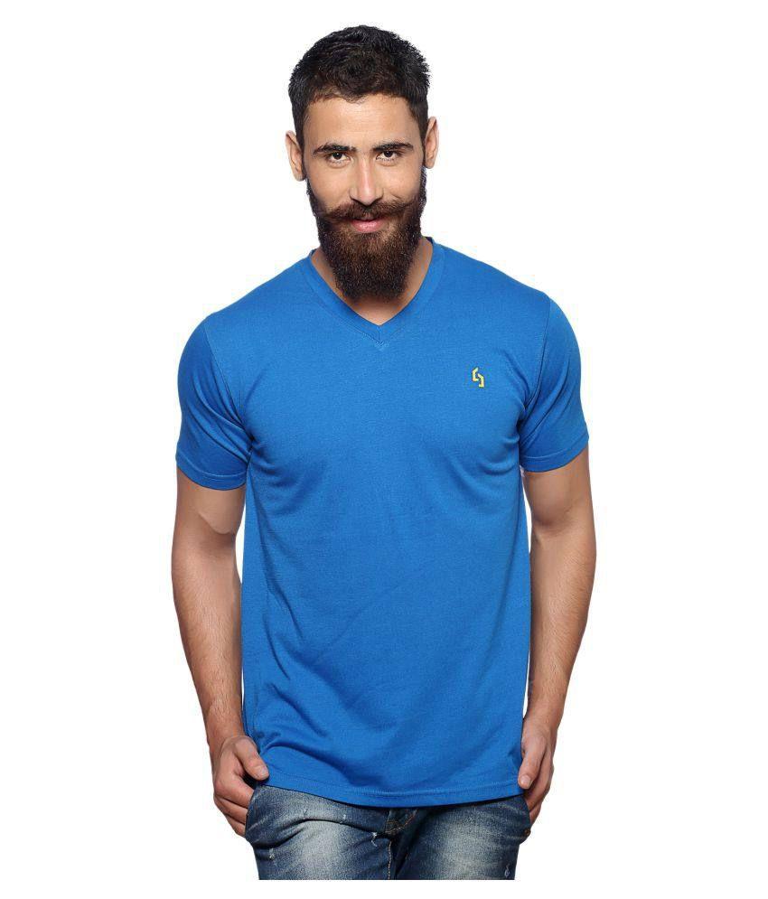 Nucode Blue V-Neck T-Shirt