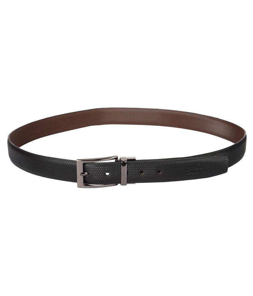 JKC Black Leather Formal Belts